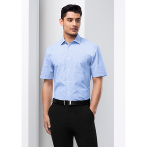 BIZ COLLECTION Mens Euro Short Sleeve Shirt S812MS