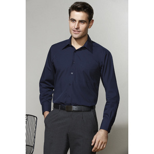 BIZ COLLECTION Mens Metro Long Sleeve Shirt SH714