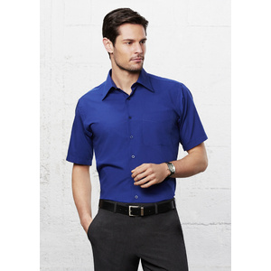 BIZ COLLECTION Mens Metro Short Sleeve Shirt SH715