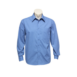 BIZ COLLECTION Mens Micro Check Long Sleeve Shirt SH816