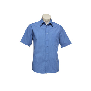 BIZ COLLECTION Mens Micro Check Short Sleeve Shirt SH817