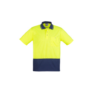 SYZMIK Unisex Hi Vis Basic Spliced Polo - Short Sleeve ZH231