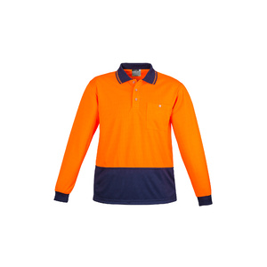 SYZMIK Unisex Hi Vis Basic Spliced Polo - Long Sleeve ZH232