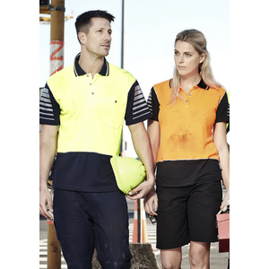 SYZMIK Mens Hi Vis Zone Polo ZH236