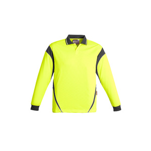 SYZMIK Mens Hi Vis Aztec Polo - Long Sleeve ZH249