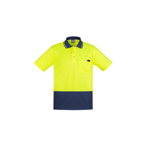 SYZMIK Mens Comfort Back S/S Polo ZH415
