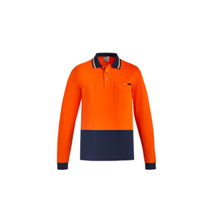 SYZMIK Mens Hi Vis Cotton L/S Polo ZH430