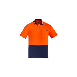 SYZMIK Mens Hi Vis Cotton S/S Polo ZH435