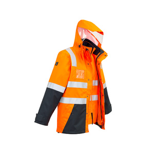 SYZMIK Mens Hi Vis 4 in 1 Waterproof Jacket ZJ532
