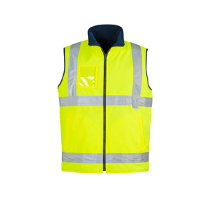 SYZMIK Mens Hi Vis Lightweight Fleece Lined Vest ZV358