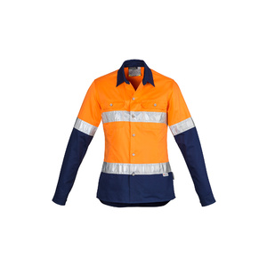 SYZMIK Womens Hi Vis Spliced Industrial Shirt - Hoop Taped ZWL123