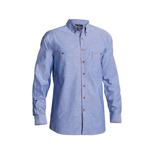 Chambray Shirt - Long Sleeve Blue XS B76407_BWED