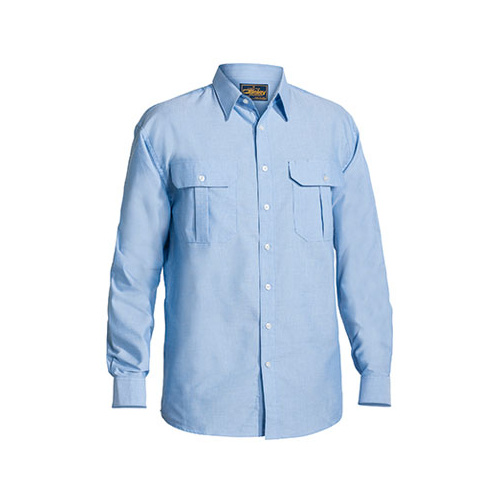 Oxford Shirt - Long Sleeve Blue S BS6030_BCRU