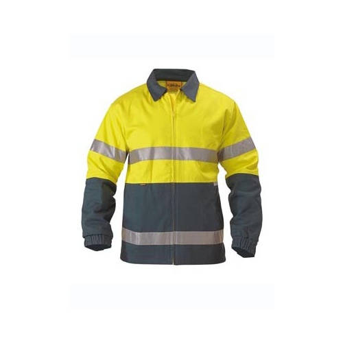 2 Tone Hi Vis Drill Jacket 3M Reflective Tape Yellow/Navy S BK6710T_TT01