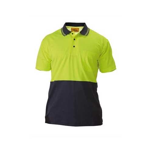 2 Tone Hi Vis Polo Shirt - Short Sleeve Yellow/Navy S BK1234_TT04