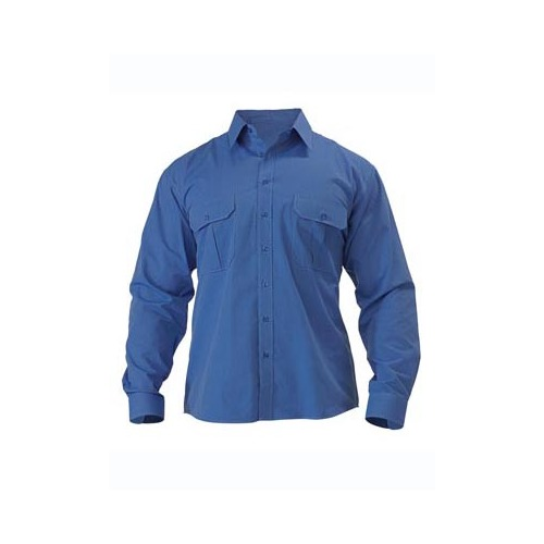 Metro Shirt - Long Sleeve Blue S BS6031_BBYD