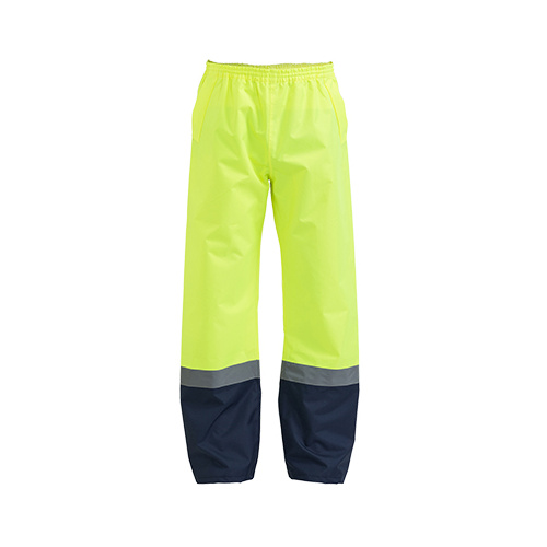 Taped two Tone Hi Vis Shell Rain Pant Yellow/Navy XS BP6965T_TT04