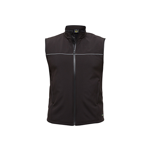 Mens Soft Shell Vest Black XS BV0360_BBLK