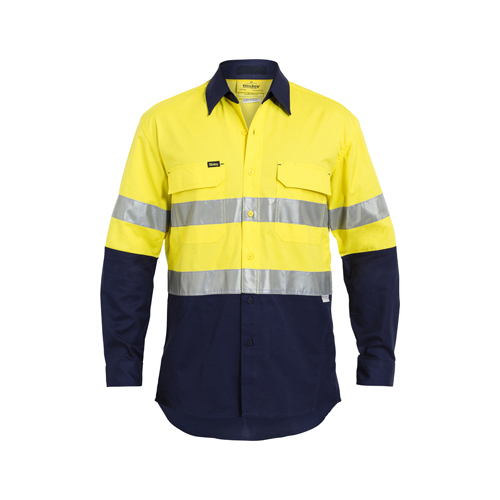 3M Taped Hi Vis X Airflow™ Ripstop Shirt Yellow/Navy S BS6415T_TT01