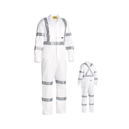 3M Taped White Drill Coverall White 77 REG BC6806T_BWHT