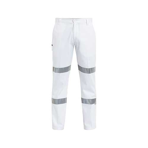 3M Taped Cotton Drill White Work Pant White 77 REG BP6808T_BWHT