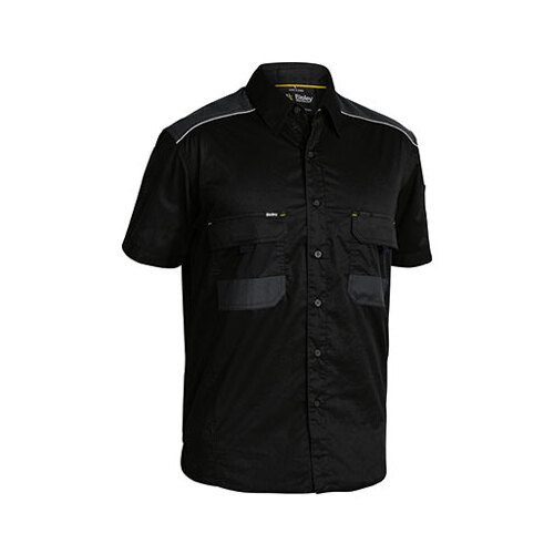 Flex & Move™ Mechanical Stretch Shirt - Short Sleeve Black XS BS1133_BBLK