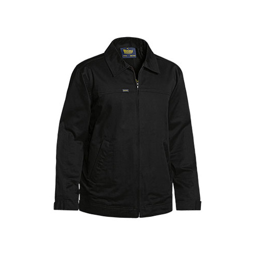 Cotton Drill Jacket With Liquid Repellent Finish Black XS BJ6916_BBLK