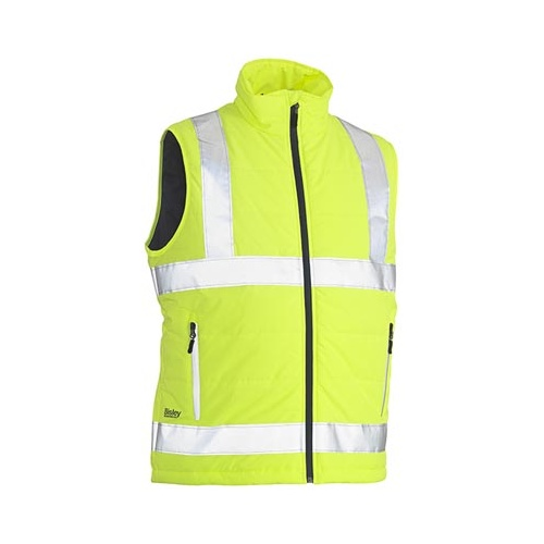 Taped Hi Vis Puffer Vest Yellow XS BV0329HT_BBLY