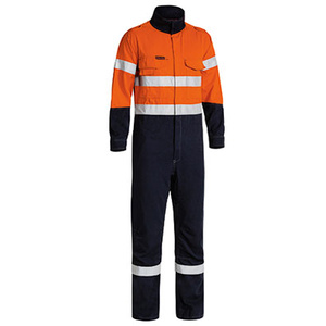 BISLEY  TenCate Tecasafe® Plus Taped 2 Tone Hi Vis FR Engineered Vented Coverall BC8086T