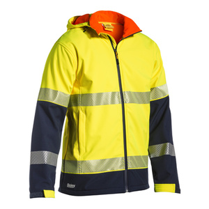 BISLEY  Taped Two Tone Hi Vis Ripstop Softshell Jacket  BJ6934T