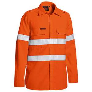 BISLEY  TenCate Tecasafe® Plus Taped Hi Vis FR Lightweight Vented Long Sleeve Shirt BS8238T